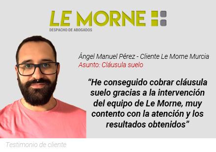 Testimonio clausula suelo Le Morne Murcia