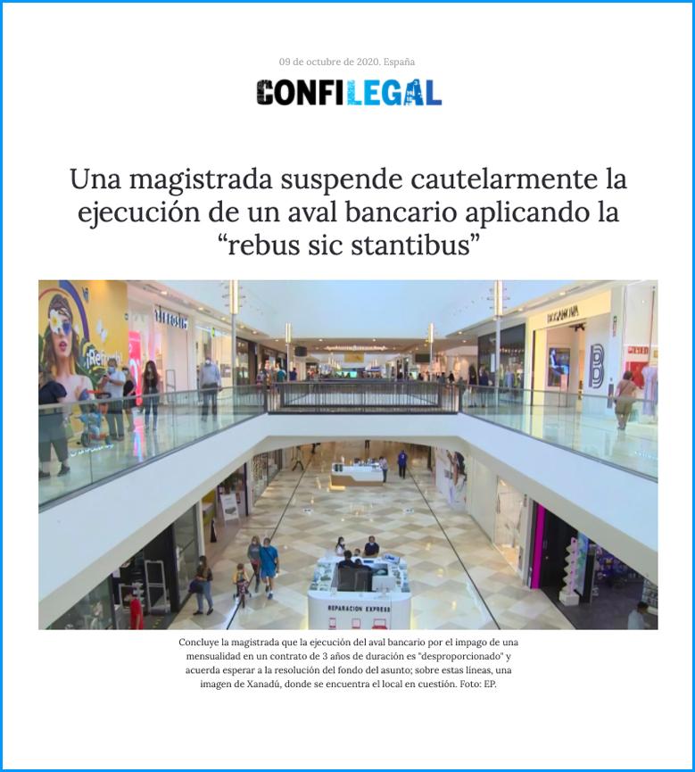 Nota de prensa caso exito Le Morne Abogados clausula rebus