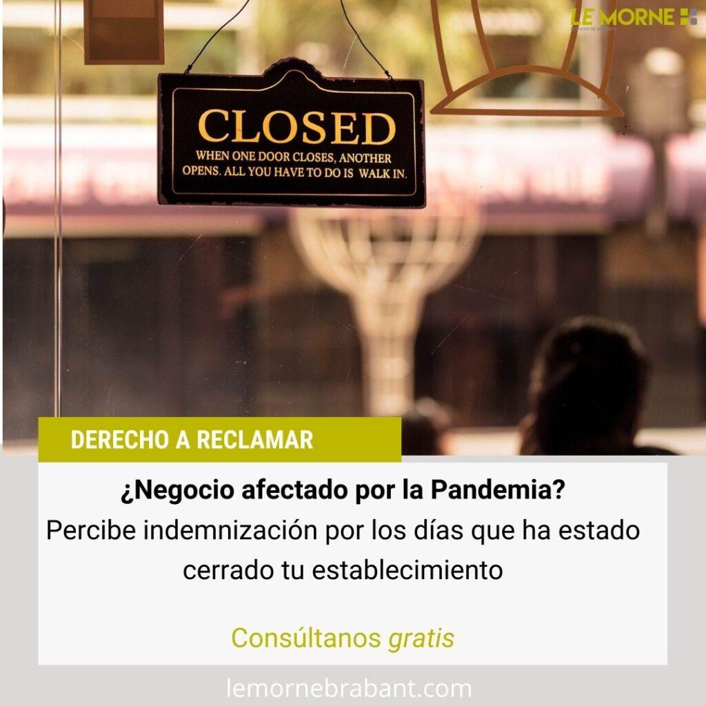 reclamar seguro dias cerrado por pandemia